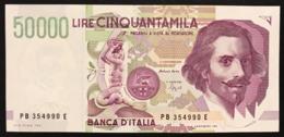 50000 Lire BERNINI II° TIPO SERIE B 1992 Spl/sup  LOTTO.2261 - [ 2] 1946-… : Repubblica