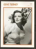 PORTRAIT DE STAR 1955 ÉTATS UNIS USA - ACTRICE GENE TIERNEY - UNITED STATES USA ACTRESS CINEMA FILM PHOTO - Foto