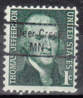 USA Precancel Vorausentwertung Preo, Locals Minnesota, Der Creek 843 - Vereinigte Staaten