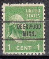 USA Precancel Vorausentwertung Preo, Locals Minnesota, Deerwood 734, Perf. Not Perfect - Vereinigte Staaten
