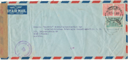 India Air Mail Cover Allierte Zensurstelle Z 1. 78 Sent To Austria - Covers & Documents