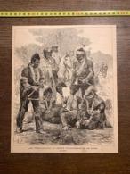 1889 ECDN LES PEAUX ROUGES AU JARDIN D ACCLIMATATION DE PARIS LE SCALP - Collections