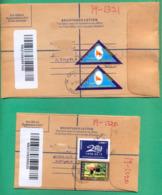 UGANDA Registration Letters Domestically Used With Stamps, Size G & H  (small And Medium) 007 Ouganda - Uganda (1962-...)