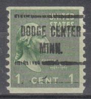 USA Precancel Vorausentwertung Preo, Locals Minnesota, Dodge Center 723 - Vereinigte Staaten