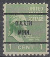 USA Precancel Vorausentwertung Preo, Bureauc Minnesota, Duluth 804-61 - Vereinigte Staaten