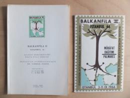 Turkey Istanbul Balkanfila II 1966 Balkan Memleketleri Posta Pulu Sergisi Catalogue Brochure Exposition Interbalkanique - Altri