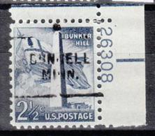 USA Precancel Vorausentwertung Preo, Locals Minnesota, Dunnell 703, Plate# - Vereinigte Staaten