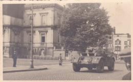Soldat Armée Militaire Belge Défilé à Spa Char Tank Photo Carte - Guerra, Militari
