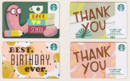 Starbucks - USA - 2018-2019 20 Different Xy052 - Gift Cards