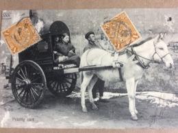 Carte Postale Affranchie (2 Timbres) : Pékin (Date Illisible, Début Du Siècle Dernier) - Cina