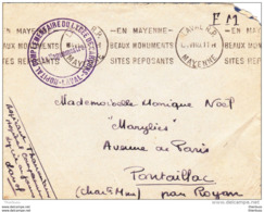 Lettre Franchise Militaire Hopital Complementaire Du Lycée De Garçons Laval Mayenne 1940 - Marcophilie (Lettres)