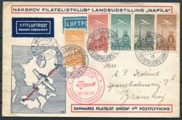 1935 Denmark NAFILA First Flight Cover Nakskov-Kobenhavn. Luftpost - Airmail