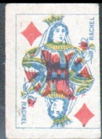 Petite Carte à Jouer: 3,7 X 5,0 Cm, Dame De Carreau - Playing Cards