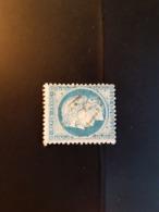 N°60 A,  25 Cts Bleu , GC 481, Biol, Isère. - Marcophilie (Timbres Détachés)