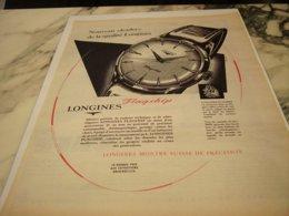 ANCIENNE PUBLICITE MONTRE LONGINES QUALITE 1959 - Juwelen & Horloges