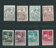 Zegels 84 - 91 Gestempeld - 1910-1911 Caritas