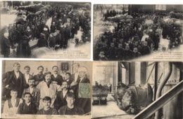 Lot De 8 Cpa - COURRIERES - La Catastrophe Des Mines - Non Classés