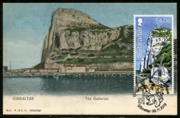 GIBRALTAR (2019). Carte Maximum Card - Joint Issue Luxembourg - Great Siege Tunnels, Schützende Tunnel, The Galleries - Gibraltar