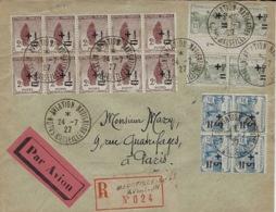 "1927- SUPERBE Affr. Orphelins Sur Env.RECC.  Par Avion  Cad "" SALON-AVIATION-NAVIGATION / MARSEILLE - 1921-1960: Période Moderne"