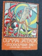 OLIMPIAI JÁTÉKOK  STOCKHOLMBAN  1912   Ungary Ungheria  Svezia  SUEDE OLYMPIC GAMES  ERINNOPHILIE  CHIUDILETTERA - Sommer 1912: Stockholm
