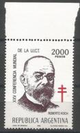 Argentina - 1982 Dr, Robert Koch MNH **   Sc - Argentina
