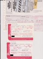 Lot 3 Cartes Embarquements / Billets Compagnie AIR CANADA 1994 Montréal Quebec - Vliegtickets