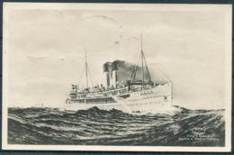 """Sweden """"DROTTNING VICTORIA"""" Ferry Postcard, Trelleborg - Sassnitz Deutsche Seepost Paquebot - Frankfurt - Svezia"""
