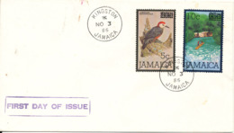 Jamaica FDC 3-11-1986 Overprinted Stamps Set Of 2 With Cachet - Jamaica (1962-...)