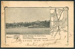 1911 Germany Deutsche Eisenbahnen Rugen Sassnitz Postcard. Berlin Railway Routes Map - Briefe U. Dokumente