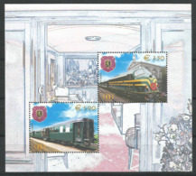 BLOC FEUILLET DE BELGIQUE DU CHEMIN DE FER  TRV BL 5 + BL 6 NEUFS SANS CHARNIERE (2 SCANS) - Railway