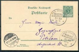 1900 German Kais. Deutsche Marine Schiffspost Stationery Postcard, Tsingtau - Potsdam. Boxer China Krieg - Germania