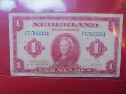 PAYS-BAS 1 GULDEN 1943 CIRCULER (B.9) - [2] 1815-… : Regno Dei Paesi Bassi