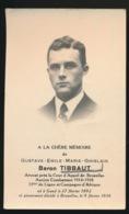 ADVOKAAT - ADEL NOBLESSE - BARON GUSTAVE TIBBAUT - GENT 1892 - BRUXELLES 1936 - Overlijden