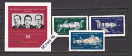 1971 SPACE - SOYUZ 11 2135/37+Bl.34  3v.+S/S- Used (O)  Bulgaria/Bulgarie - Europa