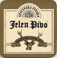 JELEN PIVO Apatin  Brewery  Yugoslavia Serbia Old Beer Coaster - Beer Mats