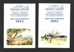 2 Calendrier De Poche 1994.   Taxi Girard à Chaumont Sur Loire. - Klein Formaat: 1991-00