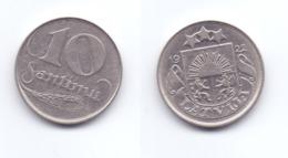 Latvia 10 Santimu 1922 - Latvia