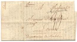 """Marque """"D'ESPAGNE"""" De 1792 Sur Lettre De Lisbonne Pour Lorient - Marcofilie (Brieven)"""