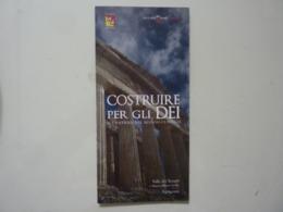 """Pieghevole Illustrato """"COSTRUIRE PER GLI DEI Valle Dei Templi, Agrigento"""" - Dépliants Turistici"""
