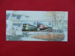 Planche De Timbres - Belgique - Locomotive - Foglietti