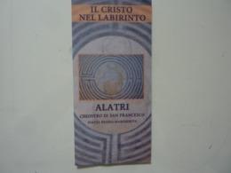 """Pieghevole Illustrato """"ALATRI IL CRISTO NEL LABIRINTO"""" - Dépliants Turistici"""