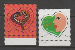 FRANCE / 2000 / Y&T N° 3295/3296 ** : Cœurs YSL (les 2 TP De Feuille) X 1 Tous BdF Bas - Gomme D'origine Intacte - Neufs