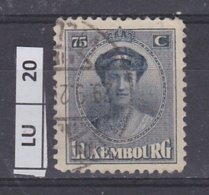 LUSSEMBURGO  1924Granduchessa Carlotta 75 C Usato - 1921-27 Charlotte Frontansicht