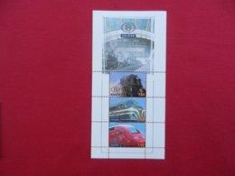 Planche De Timbres - Belgique - Locomotives - Foglietti