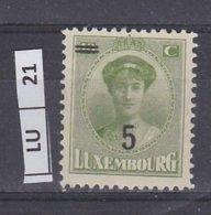 LUSSEMBURGO     1925Granduchessa Carlotta 5 C Su 10 Usato - 1921-27 Charlotte Frontansicht