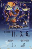 "Japan - Japanese Card DISNEY RESORT LINE.  Carte DISNEY RESORT LINE Du Japon.   ""Philharmagic 2011"". - Disney"