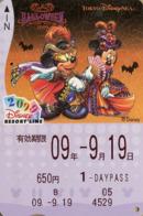 "Japan - Japanese Card DISNEY RESORT LINE.  Carte DISNEY RESORT LINE Du Japon.   ""Halloween 2009"". - Disney"