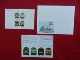 Planche De Timbres - Belgique - Locomotives - Feuillets