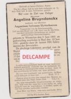 DOODSPRENTJE BRUYNDONCKX ANGELINA WEDUWE UYTTERHOEVEN WESTERLO BAAL 1865 - 1941   BEWERKT TEGEN KOPIEREN - Images Religieuses