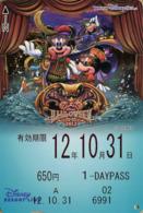 "Japan - Japanese Card DISNEY RESORT LINE.  Carte DISNEY RESORT LINE Du Japon.   ""Halloween 2012"". - Disney"